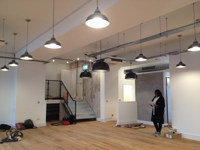 Office space nearing completion