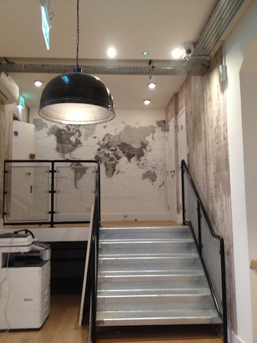 New staircase to reception area